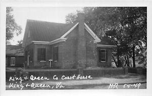 H75/ King & Queen Virginia RPPC Postcard c1950s County Court House 217