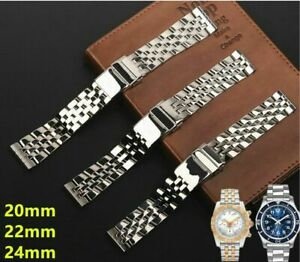 Bracelet de montre en acier inoxydable 20 24mm pour bracelets durables Breitling