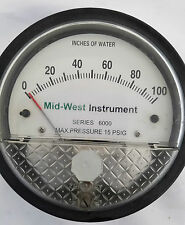 MID-WEST INSTRUMENT INCHES OF WATER SERIES 6000 MODEL 60023