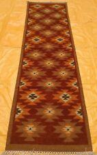 ORGANIC DYE Afghan Handmade Tribal Nomadic Wool Kilim Rug Runner 80x300cm 50%OFF