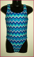 GIRLS TOGS Sz 3 - Gorgeous BRIGHT BLUE ZIG-ZAG COSSIE - SWIMWEAR BATHERS  New