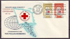 d4824/ New Hebrides Red Cross FDC Cover 1963
