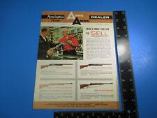 Vintage 1965 Remington Peters Arms Ammo Dealer Brochure Model 870 1100 M6604