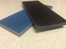 SKY BLUE AND BLACK PAPER MICARTA KNIFE HANDLE SCALE BLANKS 1/4""