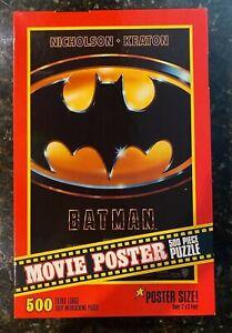 Vintage Milton Bradley 1989 Batman Movie Poster Puzzle 500 Piece - BRAND NEW!!