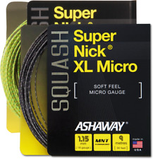 Ashaway Super Nick XL Micro 18 / 1.15mm String Squash Set Neon Yellow,Black
