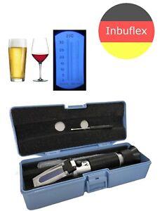 Refraktometer Bier Brauer Wein Winzer Alkohol Zucker Gehalt Brix: 0-32% Brauer