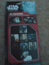 STAR WARS Rogue One  3D LENTICULAR  COASTERS   Set of 8 - New in Box