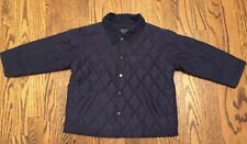 Children's Place Boys Blue Quilted Lightweight Barn Jacket Coat Size 36m/3T