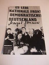 AK Autogrammkarte Foto mit Original Autogramm Margot Honecker handsigniert