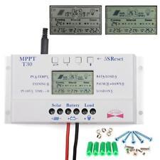 LCD-Anzeige 30A 12V-24V USB Solar Panel Laderegler Solarregler mit Schrauben HS