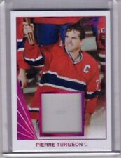 PIERRE TURGEON 17/18 Leaf Memorabilia Jersey #BM-31 Montreal Canadiens Card