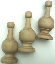 """5 Pieces Large Wood Finial Turning Size 4-3/8"""" High bulk pack 5 Pcs"""