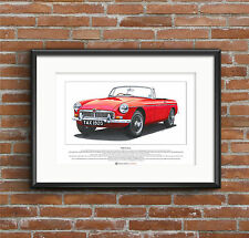 MGB Roadster Limited Edition Fine Art Print A3 size