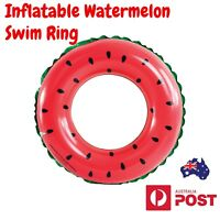 Watermelon Swim Ring Summer Pool Floats Lounge Toy Fun Beach Inflatable AU