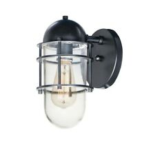 Maxim Lighting Seaside 1-Light Outdoor Wall Sconce, Black - 10262CLBK