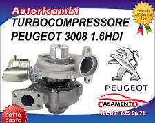 TURBOCOMPRESSORE PEUGEOT 3008 1.6HDI 80KW DAL 1/2009 IN POI