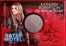 BATES MOTEL (Season Two) - KATHLEEN ROBERTSON - Autographed Costume Card CAKR