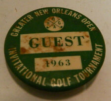 Vintage 1963 Greater New Orleans Invitational Golf Tourney Guest Pinpack Good Co