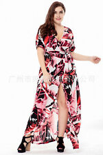 Large size Evening Dress Mid-length Skirt Hollow Lace Floral Dress Ball Gown