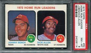 1973 Topps #62 Home Run Ldrs. Bench/Allen  PSA 8 NM-MT