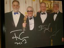 STEVEN SPIELBERG AUTOGRAPHED/SIGNED 16x20 CANVAS WITH LUCAS, SCORSESE, & COPPOLA