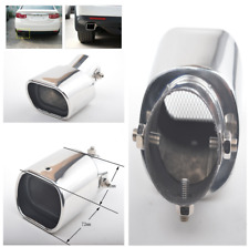63mm Curved Stainless steel Bend Auto Exhaust Tail Pipe Tailpipe Muffler Tip Kit