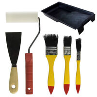 6pcs DIY Painting Tools Kit Pro Roller Wall Brush Painting Handle Edger Tools