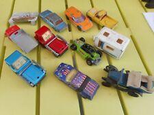 Lot de 10 camions, camionnette, voiture, caravane - 2 camions porte benne MATCHB