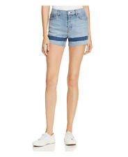 J Brand SOHO Stripe Gracie High Rise Raw Hem Denim Jean Shorts Size 27 NEW $168