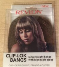 Revlon Clip Lok Bangs Hair Extensions Frosted