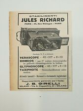 Pubblicità vintage 1940 JULES RICHARD PARIS RADIO advertising publicitè werbung