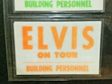 ELVIS PRESLEY- ONE (1) ORANGE - ON TOUR-BUILDING PERSONNEL -  BACK STAGE PASS
