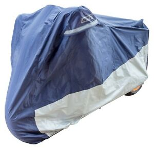 Bike It Deluxe Heavy Duty Rain Cover Blue Silver XL Fits Up To 1200cc BC5702 T