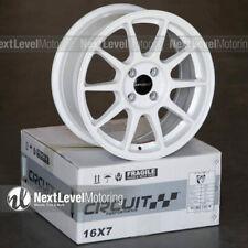 Circuit Cp23 16x7 4 100 35 Gloss White Wheels Type R Style Fits Honda Civic Jdm
