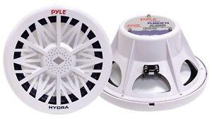 Pyle PLMRW10 10 500 Watt 4 Ohm Marine Subwoofer (White)