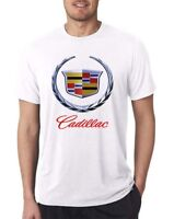 NICE USA CADILLAC CAR racing LOGO MEN'S t-shirt S - 5XL white