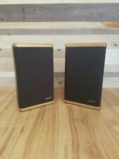 Mini Advent Bookshelf Speakers with Real Hardwood End Caps Tested/Work!