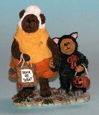 "Boyds Bears ""Candy B. Corn with Scaredy Bear"" # 228408 Halloween, Nib 2003"