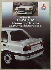 MITSUBISHI LANCER Car Sales Brochure Oct 1988 #10/88  1500GLX & 1600GTi