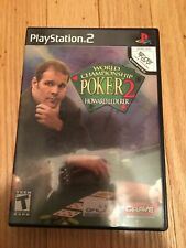WORLD CHAMPIONSHIP POKER 2 - PS2 - COMPLETE W/MANUAL - FREE S/H (P)