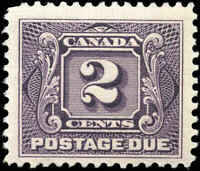 1906 Mint H Canada F+ Scott #J2 2c Postage Due Stamp