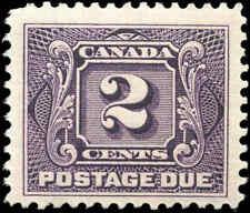 1906 Mint H Canada F+ Scott #J2 2c Postage Due Stamp