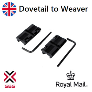 Dovetail to Weaver Rail Mount Rifle Adapter Scope Mount Converter 11mm - 20mm