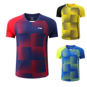 New Li Ning Tees Men's sports Tops tennis Clothing badminton T-shirts