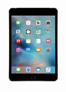 Apple iPad mini 4 128GB, Wi-Fi + Cellular (Unlocked), 7.9in - Space Gray
