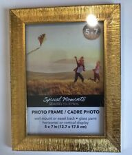 NEW 5 x 7 Special Moments Textured Gold Plastic Picture Frame
