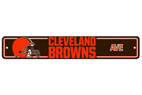 "Cleveland Browns Ave Street Sign 4""x24"" NFL Football Team Logo Avenue Man Cave"