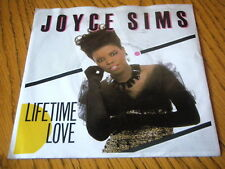 "JOYCE SIMS - LIFETIME LOVE  7"" VINYL PS"