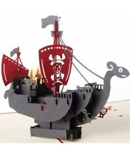 Pirate Ship Pop Up Card Birthday Party ⚓️☠️